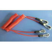 Buy cheap Safety orange lanyard spring coil with heavy duty snap hooks for attaching valuable items product