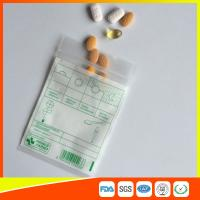 Buy cheap Tablet Drug Packaging Ziplock Pill Bags , Medicine Plastic Bag With Zip Seal product