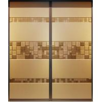 Buy cheap Soft Leather Upholstered Doors With Aluminum Frame, 9mm MDF Board Wardrobe Sliding Door product