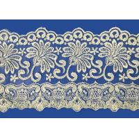 Buy cheap Colorful Lingerie Lace Fabric Custom Made Embroid Organza French Guipure Lace Fabric product
