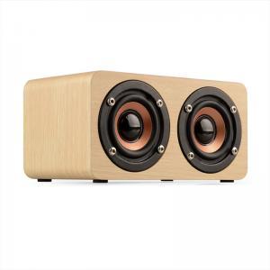 Buy cheap Wooden Wireless Bluetooth Speaker Portable HiFi Shock Bass Soundbar product