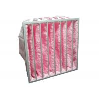 Buy cheap HVAC System Glass Fiber Multi - Pocket Air Filter F6 - F8 Efficiency For Greenhouse product
