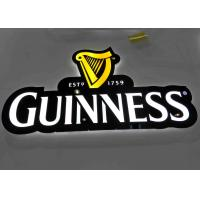 Buy cheap LED illuminated Beer Plexglass Bar Sign For Displaying Beer Customized Logo Shape product