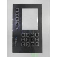 China Custom PC PET Membrane Control Panel With Clean Window Full Key Emboss SGS on sale