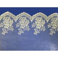 Buy cheap African lace fabrics Embroidery Lace Fabric cord guipure white lace fabric product