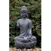 China Large Zen Inspired Asian Water Fountains In Buddha Statue Shape wholesale
