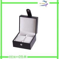 Buy cheap Small Mens Watch Gift Boxes Packaging With Leather Handles product