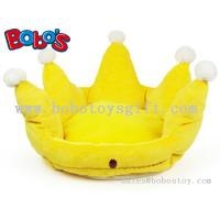 Buy cheap Yellow Color Plush King Crown Style Pet Bed Puppy Dog Sofa product