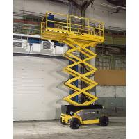 Buy cheap Self - elevating scissor lift platform 6m 300kg Maneuverable with battery powered product