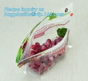 Buy cheap fruit bag with holes sandwich slider zip deli bag, slider zip bag for fresh fruit packaging, grape bag with hole/ slider product