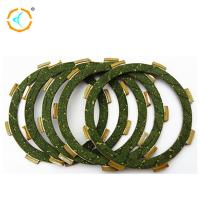 China 125cc Motorcycle Spare Parts / Green Rubber Material Motorcycle Clutch Plate on sale
