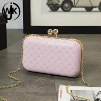 China custom golden chain shoulder bag coin purse mini Newly gold pu leather cute sling bag for girls new clutch design bags on sale