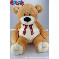 "Buy cheap 23.5""Brown Big Soft Teddy Bear Toys With Printing Ribbon product"