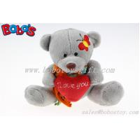 "Buy cheap 5.1""Small Size Grey Plush Teddy Bear Toy With I love You Heart Pillow product"