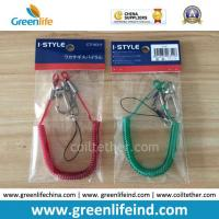 China Hot Sale Red/Green Spring Steel Wire Spiral Coiled Tether on sale