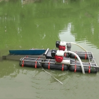 Buy cheap 1T/H 25Kw Steel Gold Dredger 3.5m Length Rotary Movable Mini Gold Minging Boat product
