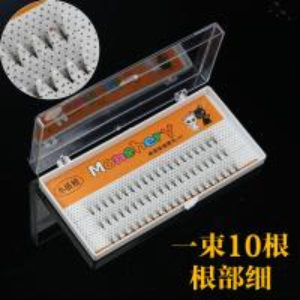 10D 3D Volume Eyelash Extensions , Prime Semi Permanent Individual Lashes Silk
