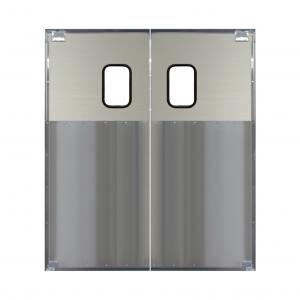 Buy cheap Fireproof Inswing Outswing Aluminum Swing Doors Anodized Finish For Restaurant product