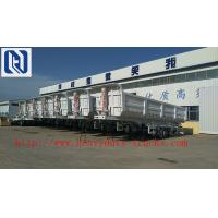 Buy cheap Flatbed Transport Semi Trailer Trucks 2 Axle , Four Double Container Trailer product