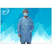 China Lab / Pharmaceutical Cleanroom Disposable Protective Clothing White Dust Proof Breathable on sale