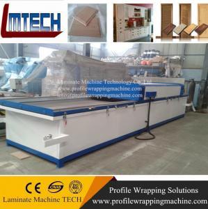China vacuum thermoforming wood grain laminate sheet vacuum membrane press machine on sale