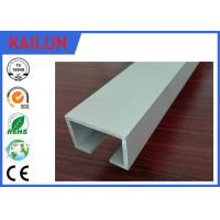 Buy cheap Curtain Track System Silver Anodized Aluminium U Channel Weather Resistance product