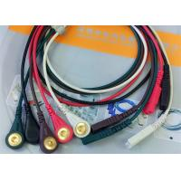 Buy cheap LL Style ECG Monitor Cable , 5 Leads Snap AHA Ecg Cables And Leadwires product