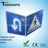 Buy cheap 3m Reflector Pedestrian and U-Turn Sign Solar LED Traffic Road Signs from wholesalers