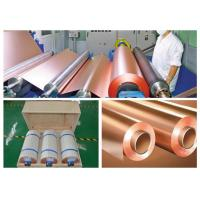 Buy cheap CCL Copper Sheet Metal Roll For CCL Copper Clad Laminate Red Color product
