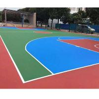 Quality Colorful Thick PU Sports Flooring Polyurethane Materials Self Leveling Coating for sale