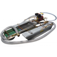 Buy cheap Portable 0.5T/H Mini Gold Dredging Boat 3.5m Length product