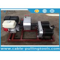 Buy cheap 5T Cable Drum Gasoline Engine Powered Winch For Pulling / Lifting During Tower Erection product