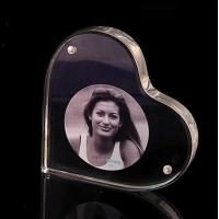 Buy cheap Heart Shape Acrylic Block Photo Frames With Good Fashion product