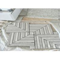 Buy cheap WhitMarble Mosaic Tile , marble mosic floor tile 10mm Thickness 302x302mm Sheet Size product