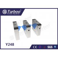 Quality Pedestrian Flap Barrier Turnstile For Indoor And Outdoor Security Management for sale