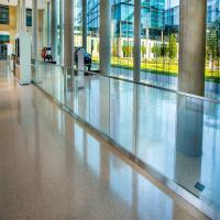 Buy cheap Safety Shopping Mall Stainless Steel Stair Frameless Glass Railing with U Channel product