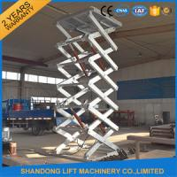 China Stainless Steel Scissor Dock Lifts Material Handling Equipment / Industrial Lift Tables on sale