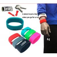 Buy cheap 2020 new Pocket Wrist band silicone bracelet with pocket for Sport product