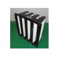 Buy cheap ISO Filter Purifie V Bank Filter Plastic Frame With Big Air Volume product
