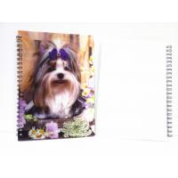 Buy cheap Flip A4 , A5 , A6 Size 3D Lenticular Notebook Cover For Wrinting product