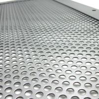Cold rolled perforated steel panels for filter application
