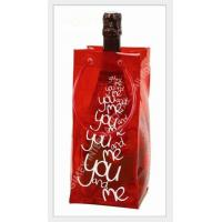 Buy cheap pvc wine bag with handle for packing ,logo print product