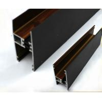 Buy cheap Square / Round Wood Finish Aluminium Profiles Black Color For Building Material product