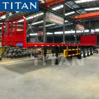 China 20/40ft Flatbed Trailer With Spring Suspension for Container Transport on sale