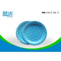7 Inch Circle Type Disposable Paper Plates Design Printed With Four Colours for sale