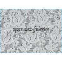 Buy cheap Jacquard Power Mesh Fabric / Spandex Flower Designs Nylon Lace Fabric product