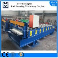 Buy cheap Custom Length Roof Automatic Roll Forming Machine 1000mm Plate Effective Width product