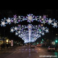 High Quality Christmas Led Street Motif Light With Star Across Street  Decoration   Decorationlamp Com