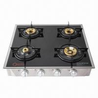 Buy cheap Table Stove, 4 burners deluxe glass stove from wholesalers