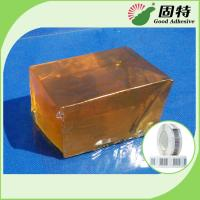 Buy cheap PSA Hot Melt Glue Adhesive Tape For Paper Label YD-102B , Yellow And Transparent Block product